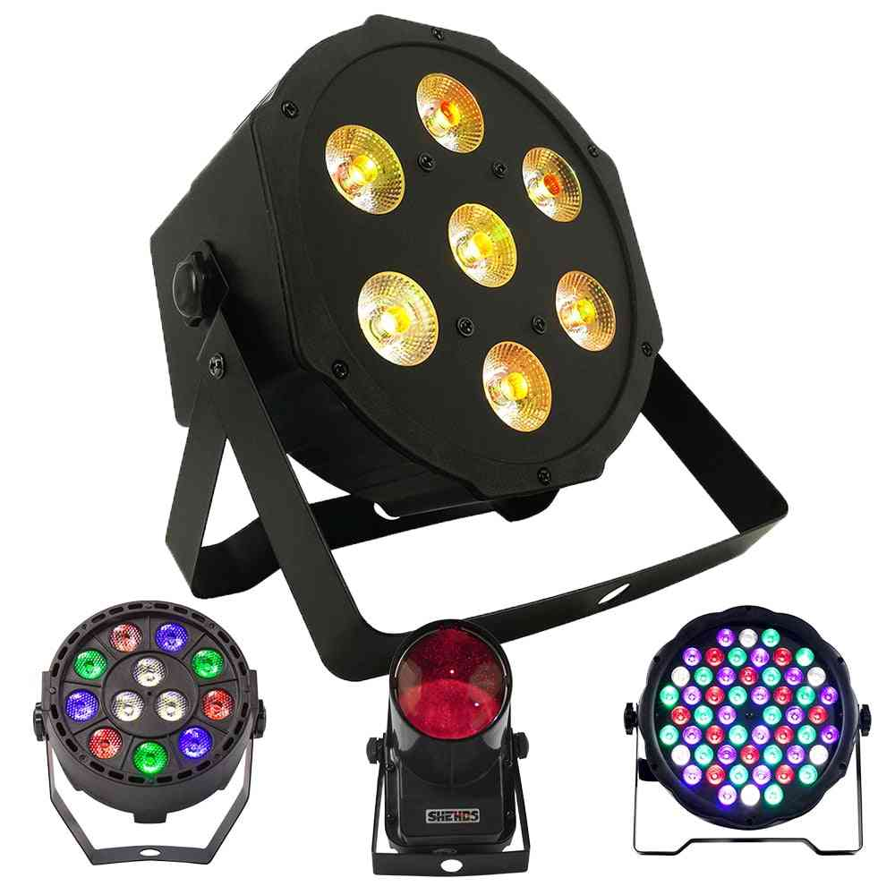 6 In 1 Stage Led Flat Par And Spotlight With Wash Effect