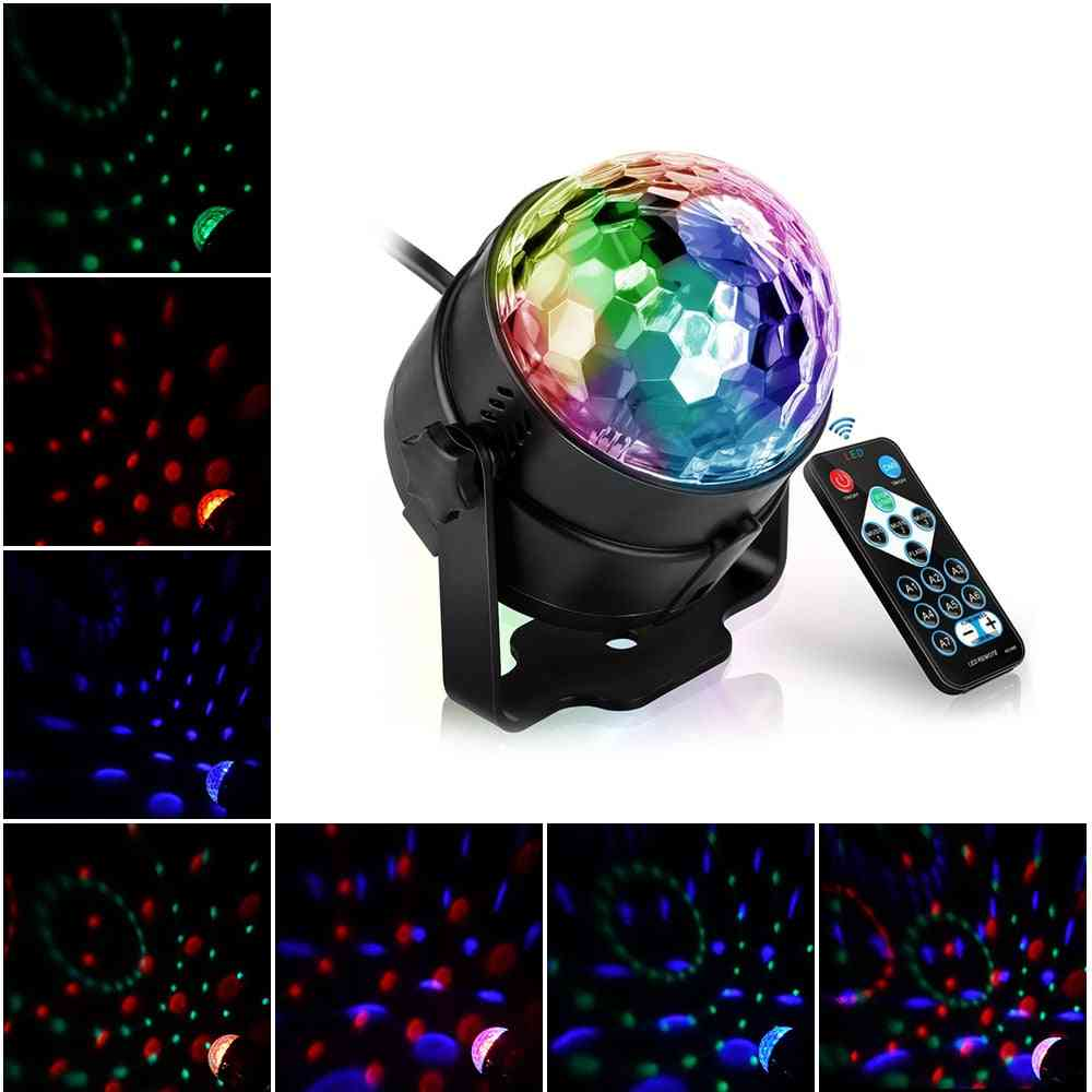Led Disco Light, Music Sound Activated Mini Rotating Laser Projector