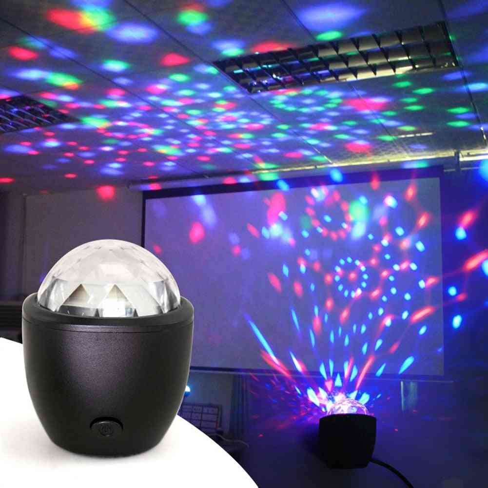 Disco Ball, Mini Led, Voice Activated-crystal Stage Light Projector