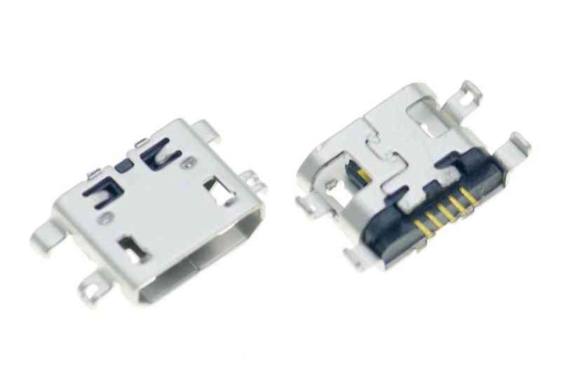 10pcs Micro Usb 5pin B Type Female Connector For Mobile Phone