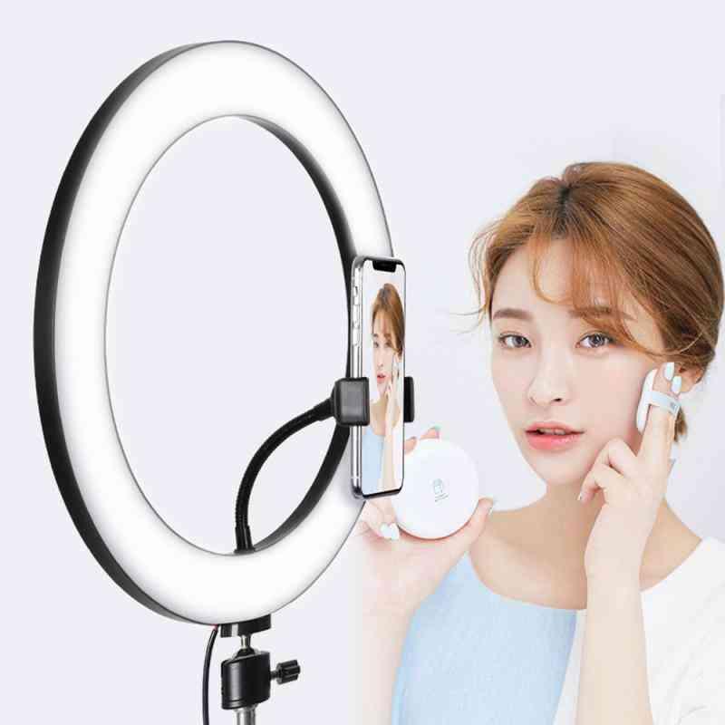 Photographic Lighting Usb Charge Led Selfie Ring Lens, Fill Light 3 Adjustable Brightness Tripod
