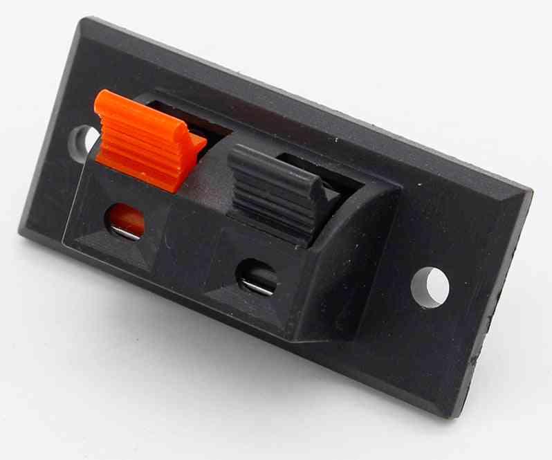 Push In Jack Spring Load Audio Speaker Terminals