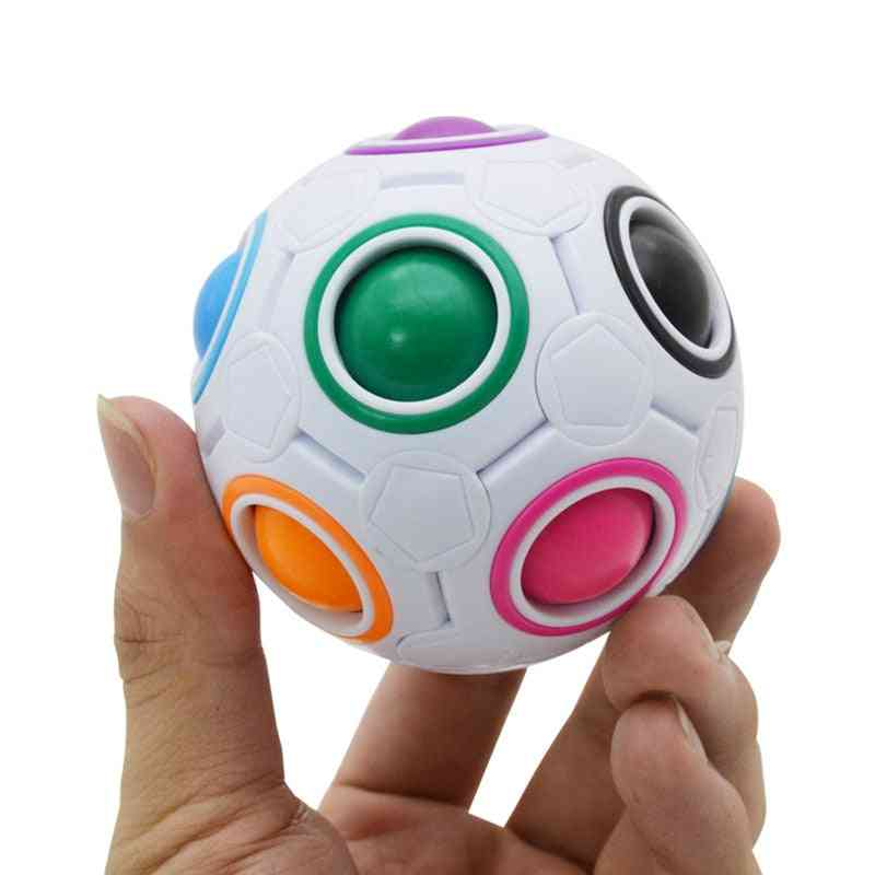 Rainbow Colors, Stress Reliever Puzzles- Portable Handheld Magic Ball Toy