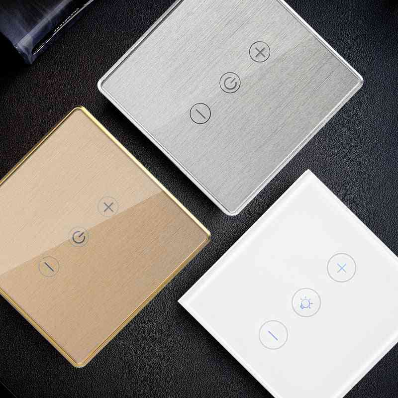 Gold/silver Led-dimmer Smart Wifi Switch Touch-control Stepless Dimmer With Bulb Compatible With Amazon/alexa/google Assistant