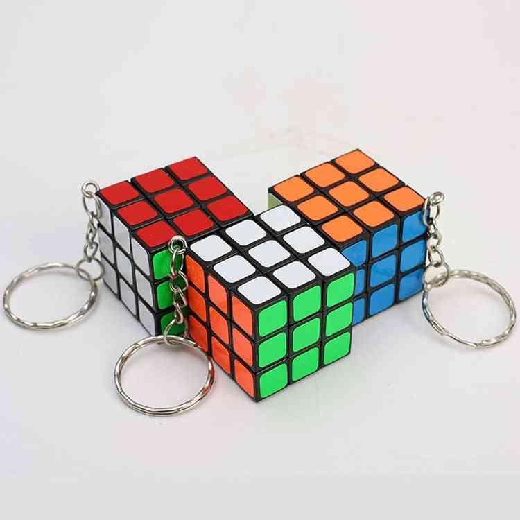 Magic Cubes Key Chain Pendant Twist Puzzle For