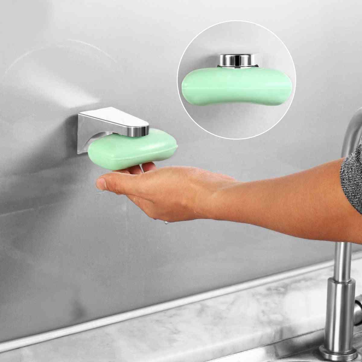 Magnetic Soap Holder -elegent Tool Free Rustproof Sponge
