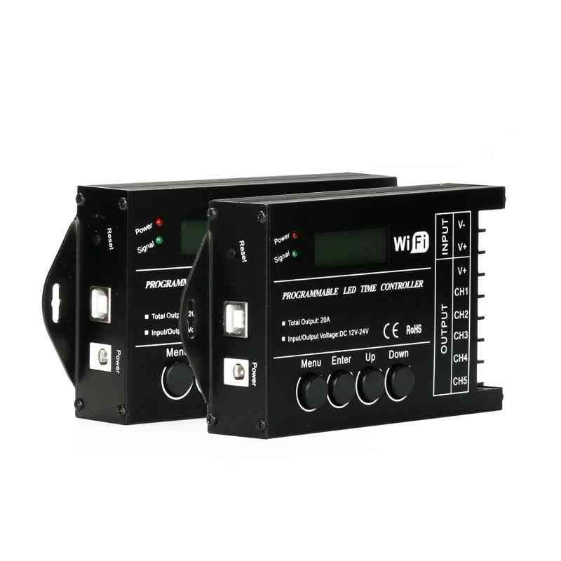 Upgraded Tc420/tc421 Time Programmable 5-ch Output Led Strip Light-controller, Widely Used In Aquariums, Fish Tank Plant Grow