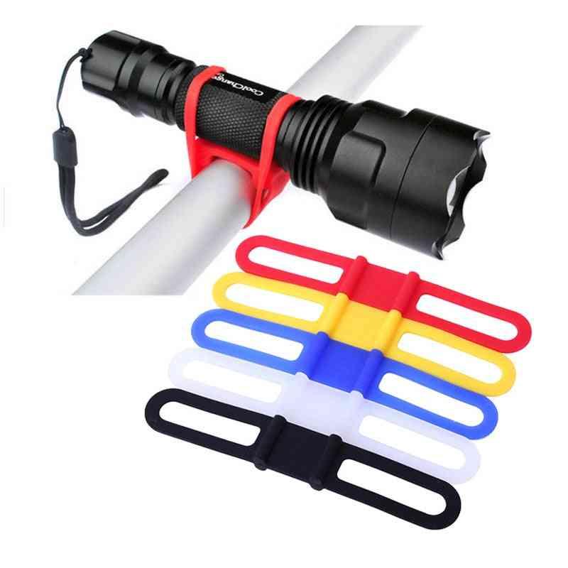 1pcs Silicone Fastening Band For  Water Bottle, Bike Flashlight Holder