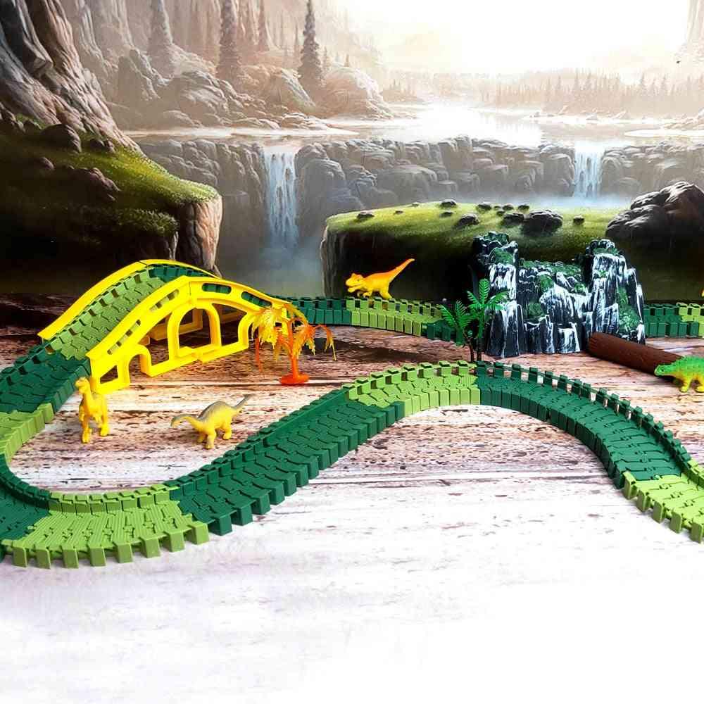 Race Track, Road Military - Diecast Flexible Dinosaur Educational Toy