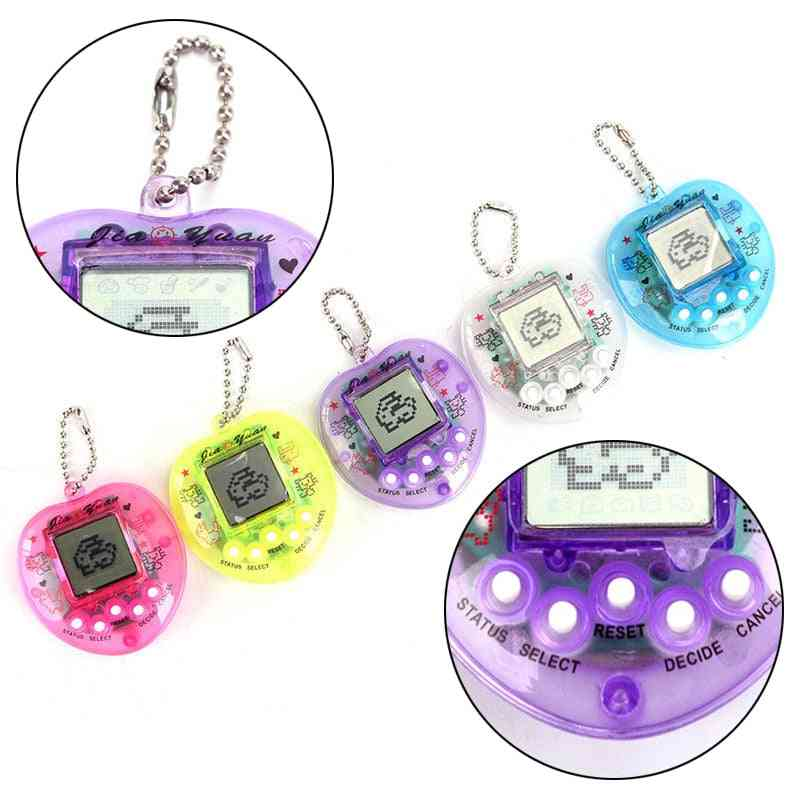 Random Color Chengke, Pretty 90s Nostalgic 49 Pets In One Virtual Cyber Toy, Electronic Pet Toy