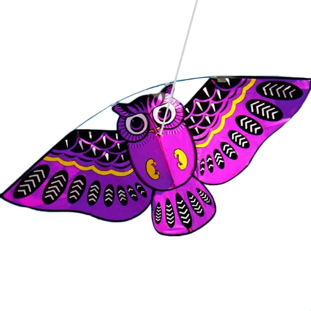 3d Owl Pattern-flying Kite With 98ft Lines