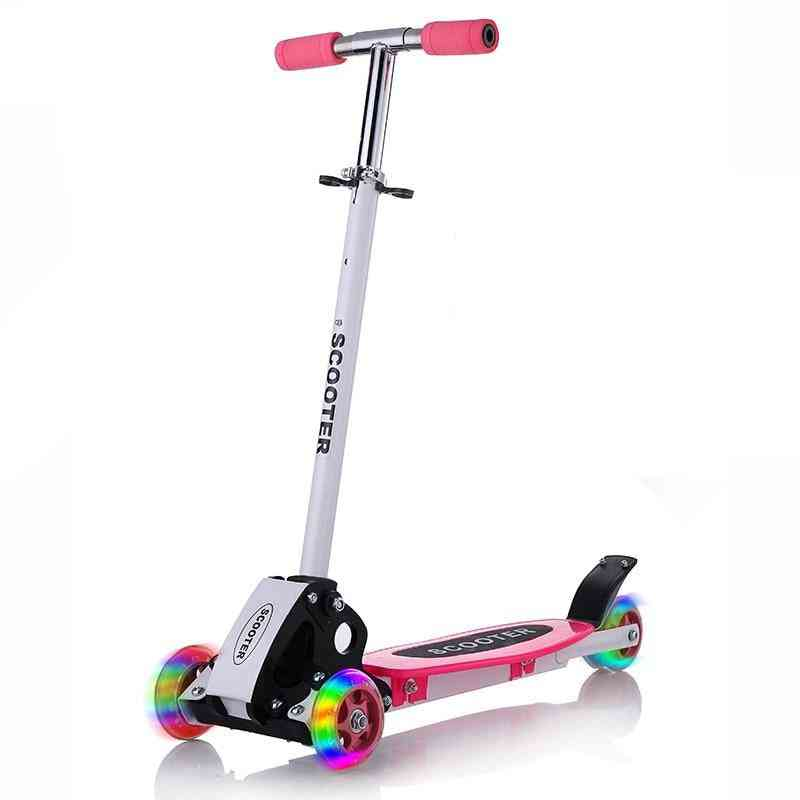 Scooter Outdoor Toy - Baby Bike Safety Kick Folding Flash Wheels