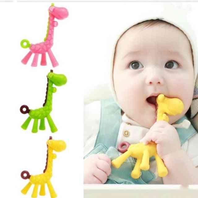 Giraffe Design-silicone Baby Teether-chew Toy
