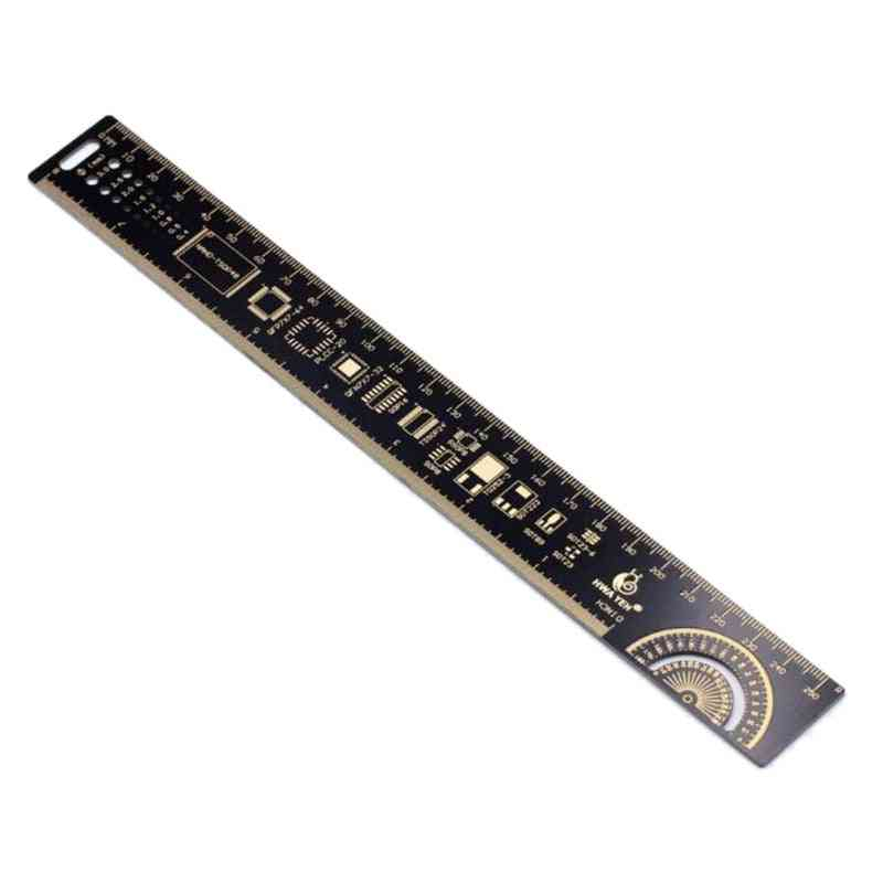 Pcb Ruler For Electronic Engineers Measuring Tool -resistor Capacitor