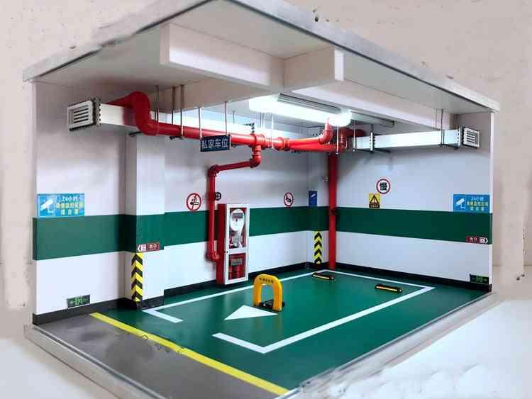 1:18 Alloy Model Car Simulation - Underground Garage Parking Space's
