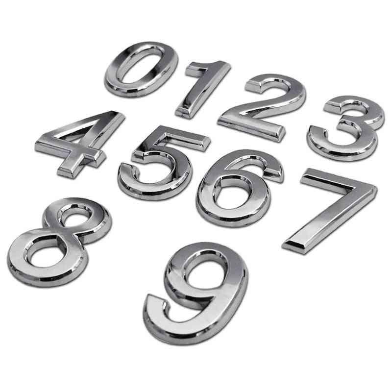 3d Numeral Door Plaque  Number- Plastic Digits 0 To 9