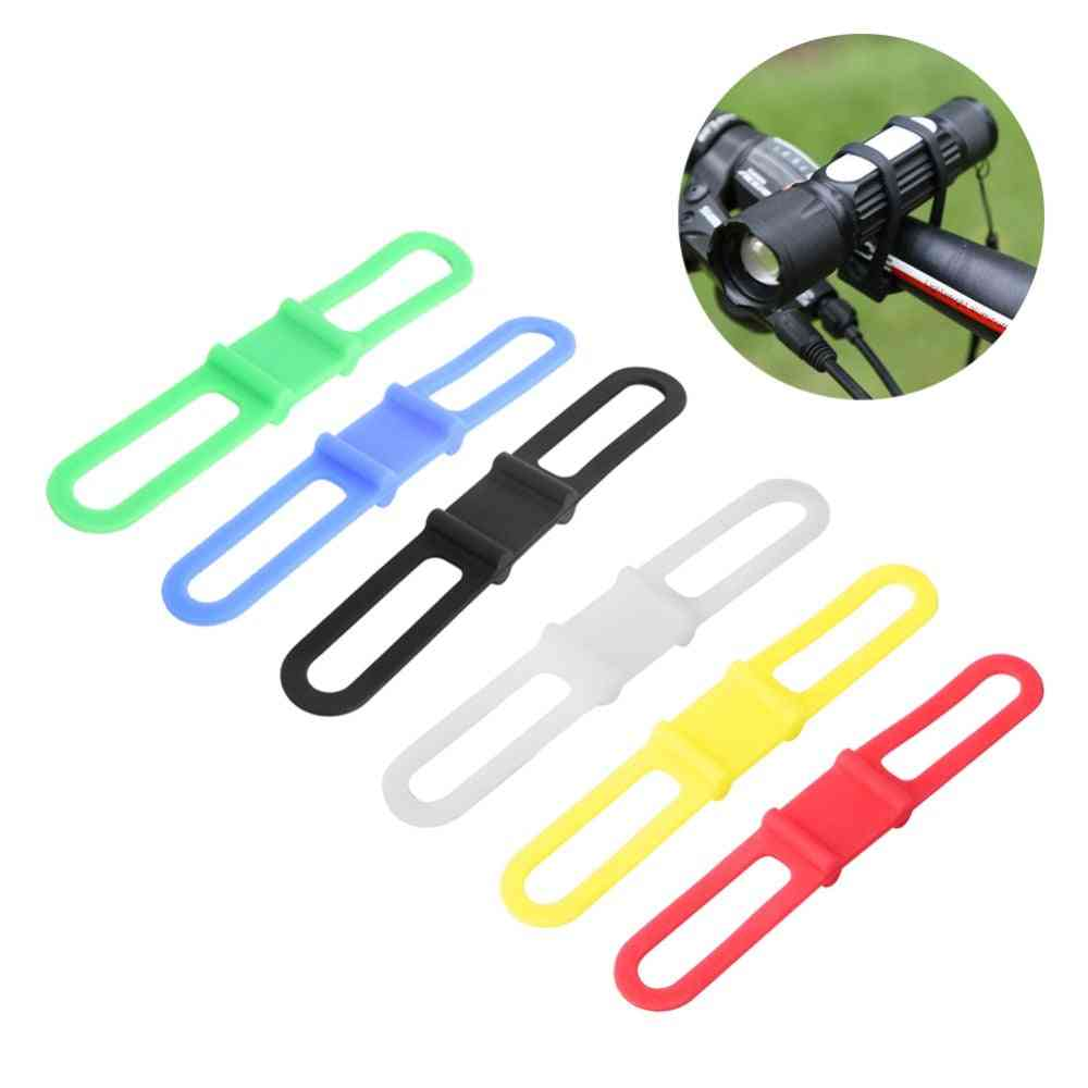 Silicone Elastic Strap-flashlight Clip For Bicycle