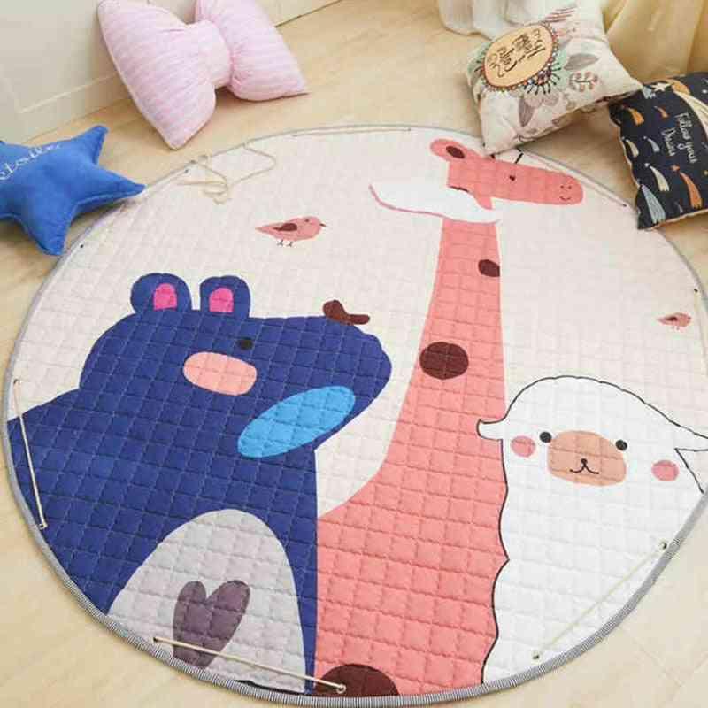 Animal Baby Play Mats -round Kids Rug Puzzle