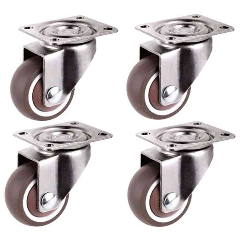 Mini Ultra Quiet Furniture Casters For Bookcase Drawers