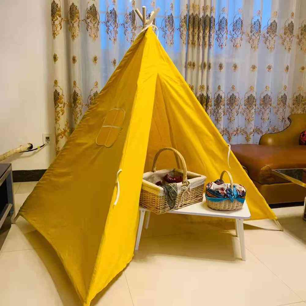 Portable's Tents Tipi Play House And Little Teepee Room Decoration