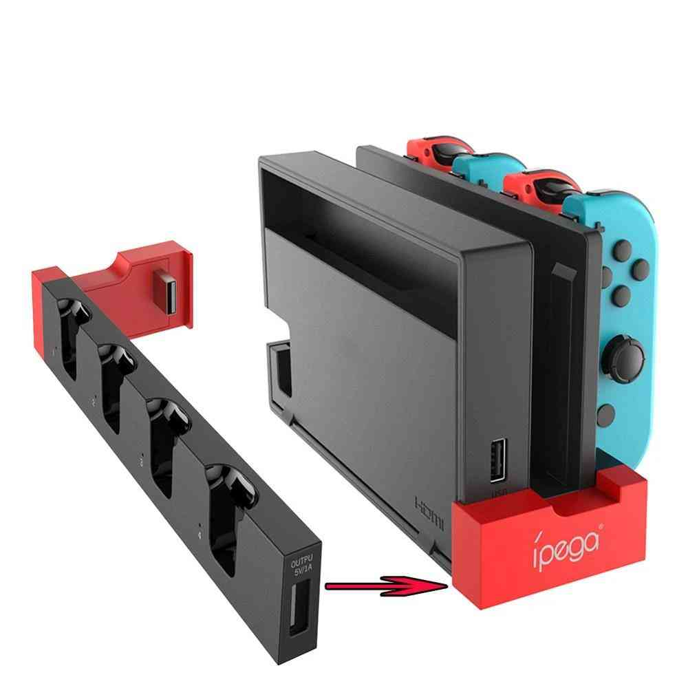 Charging Dock Stand Station Holder For Nintendo Switch, Joy-con Game Console With Indicator