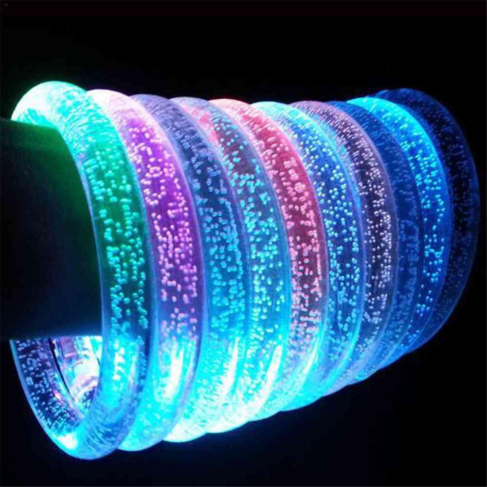 Led Bubble Flashing Bracelet,  Light Up Acrylic Luminous Ring For