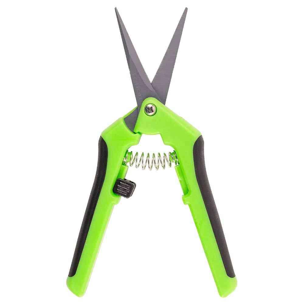 Gardening Hand Pruner Shear Trimming Scissors With Straight Stainless Steel Comfort Handles