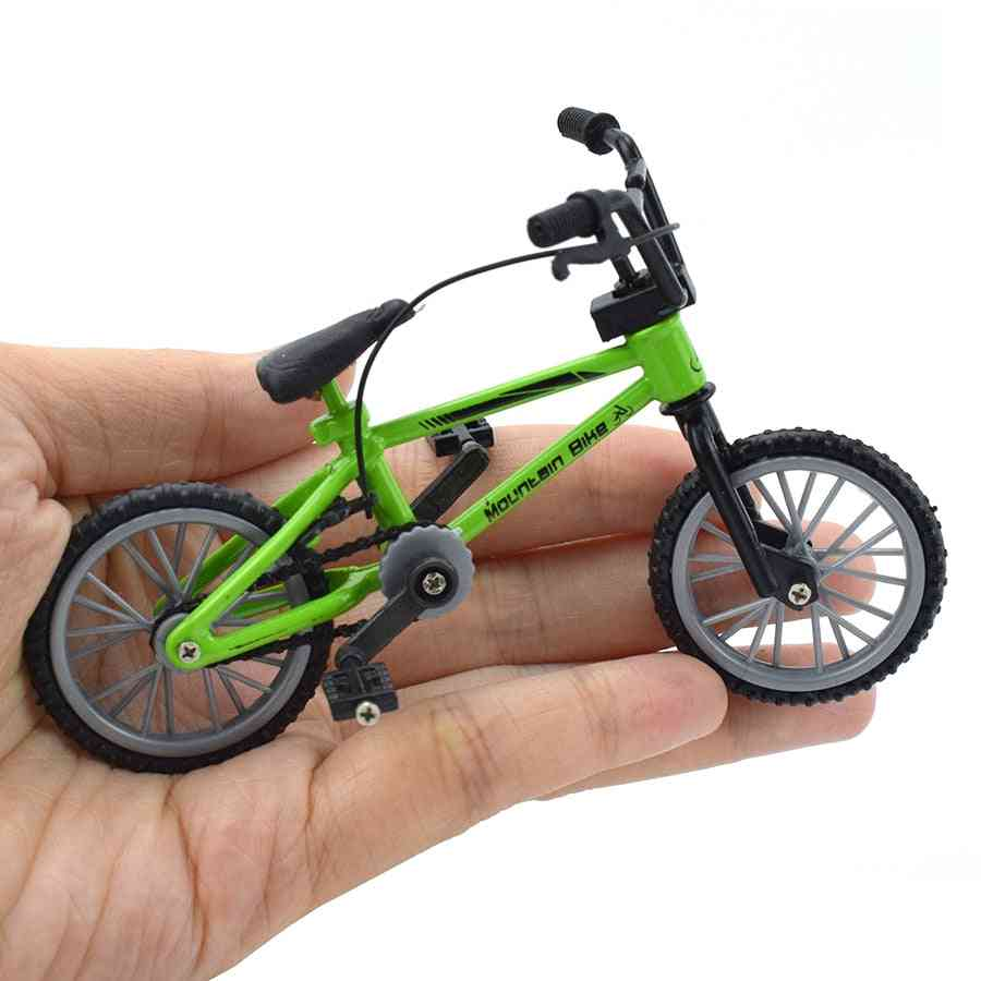 Finger Bmx Bike For - Mini Bike With Brake Rope Alloy Bmx Functional Mountain Bicycle Model For