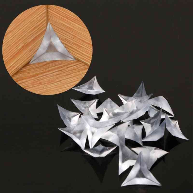 Clear Acrylic, Triangle Shaped-anti-dust Plugs For Furniture/cabinet/drawer Corners