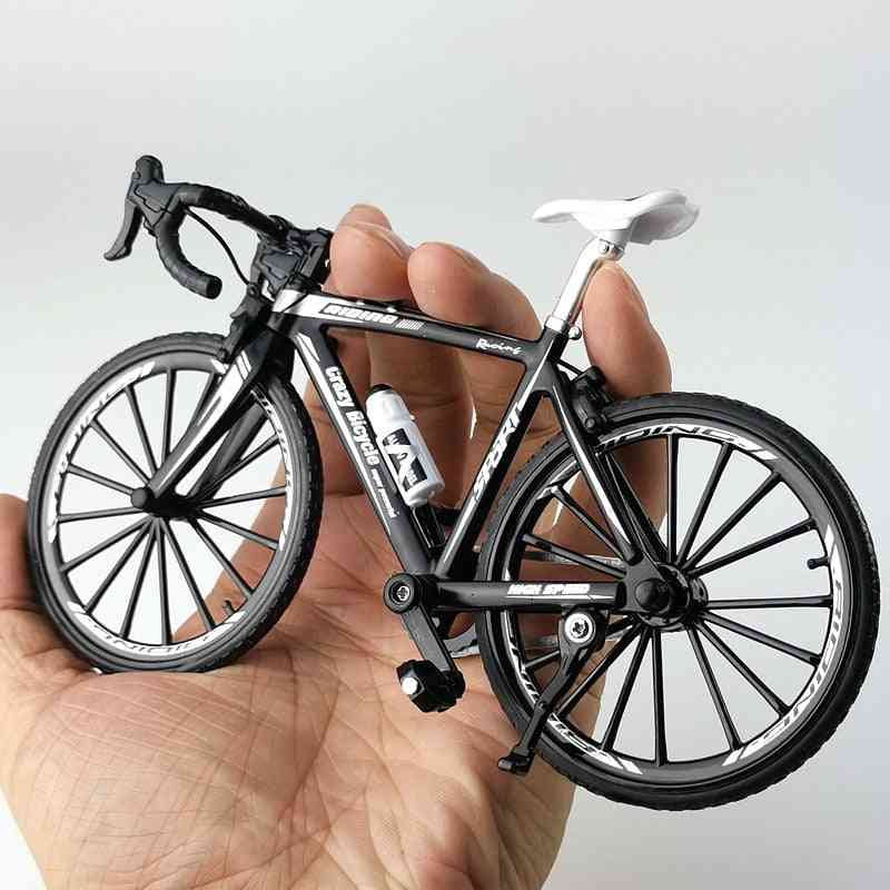 Crazy Magic Finger Alloy Bicycle Model - Bend Road Mini Racing Toy