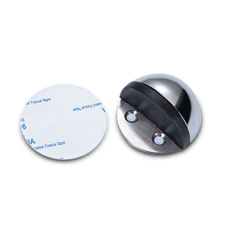 Stainless Steel, Rubber, Non Punching Stickers - Mounted Nail Free Door Stops