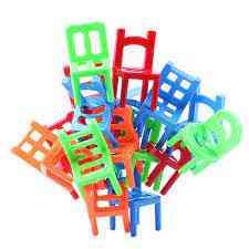 18 Pcs / Set Board Balance Chairs - Adult Kids Stacking Game