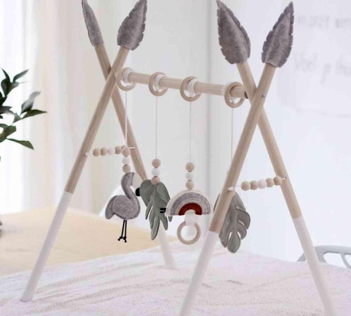 Baby Gym Play Nursery Sensory Ring Pull - Fitness Frame Toy