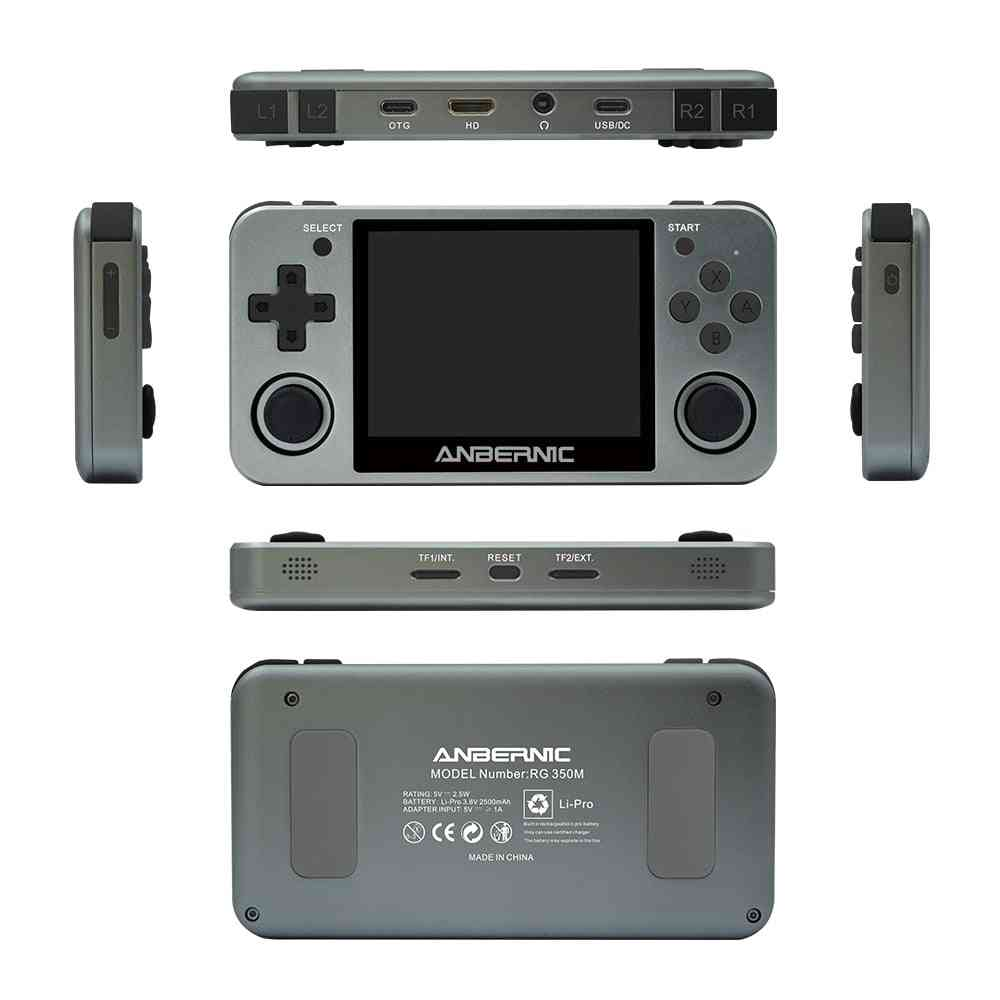 Retro Games Aluminum Alloy Ips Screen Ps1, Video Games Console Emulators Handheld Game Player Rg350