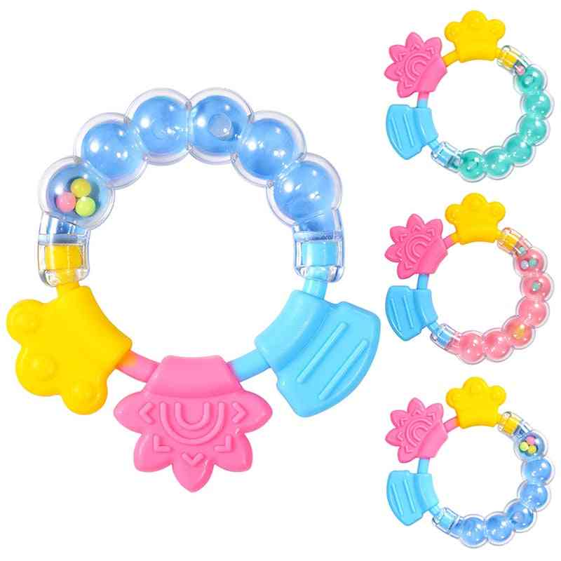 Baby Molar Solid Tooth Soft Silica Gel Rattle Teether Toy