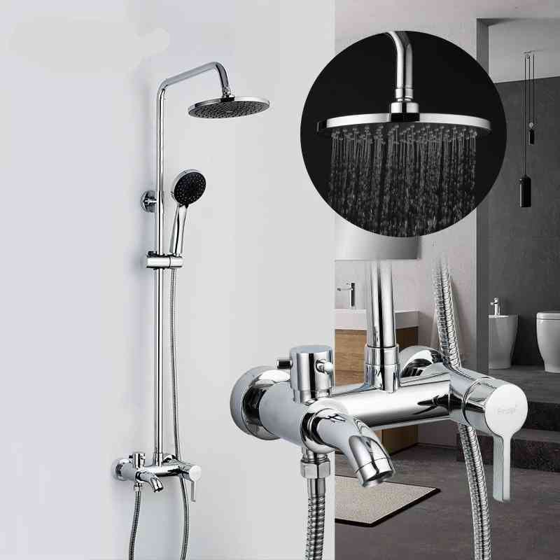 Round Shaped, Chrome Plated-rainfall Shower Faucet