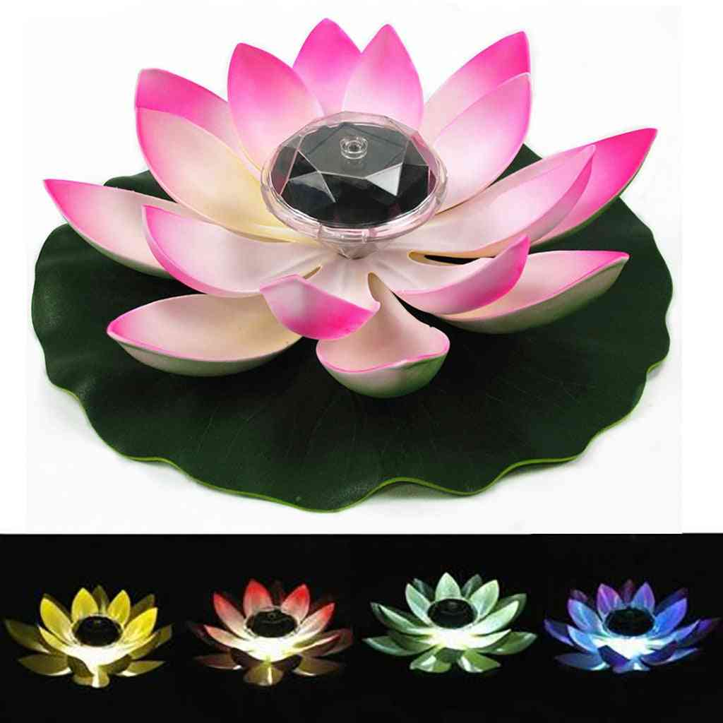 Solar Powered Led With  Flower Light -floating Fountain Pond