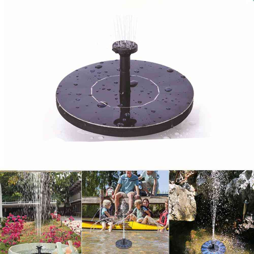 Mini Solar Powered Floating Fountain For Pond