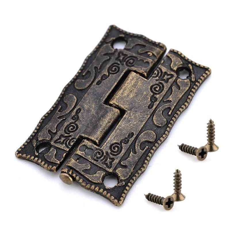 10pcs Antique Style Decorative Mini Hinge For Cabinet/door/drawer/jewelry Storage Wooden Box