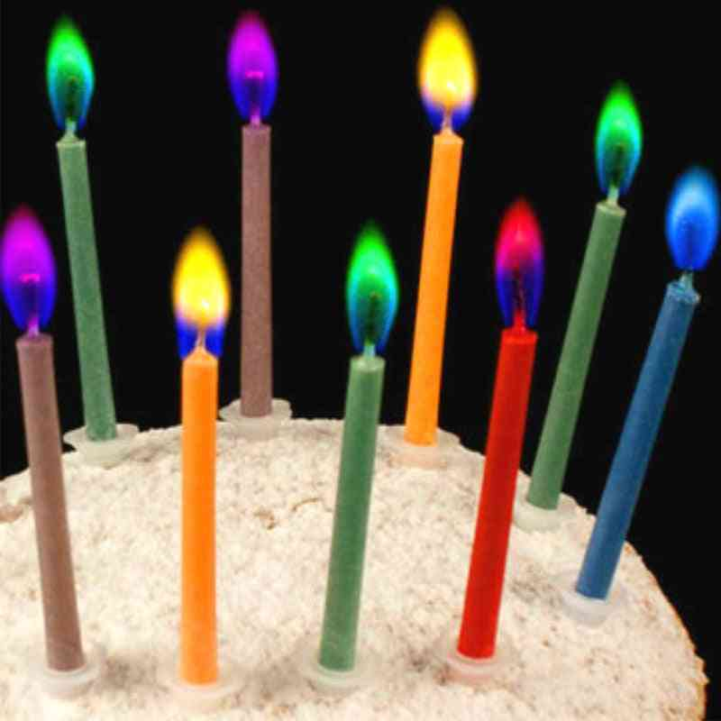 Paraffin Wax, Safe Flames-cake Candles For Wdding, Birthday Party