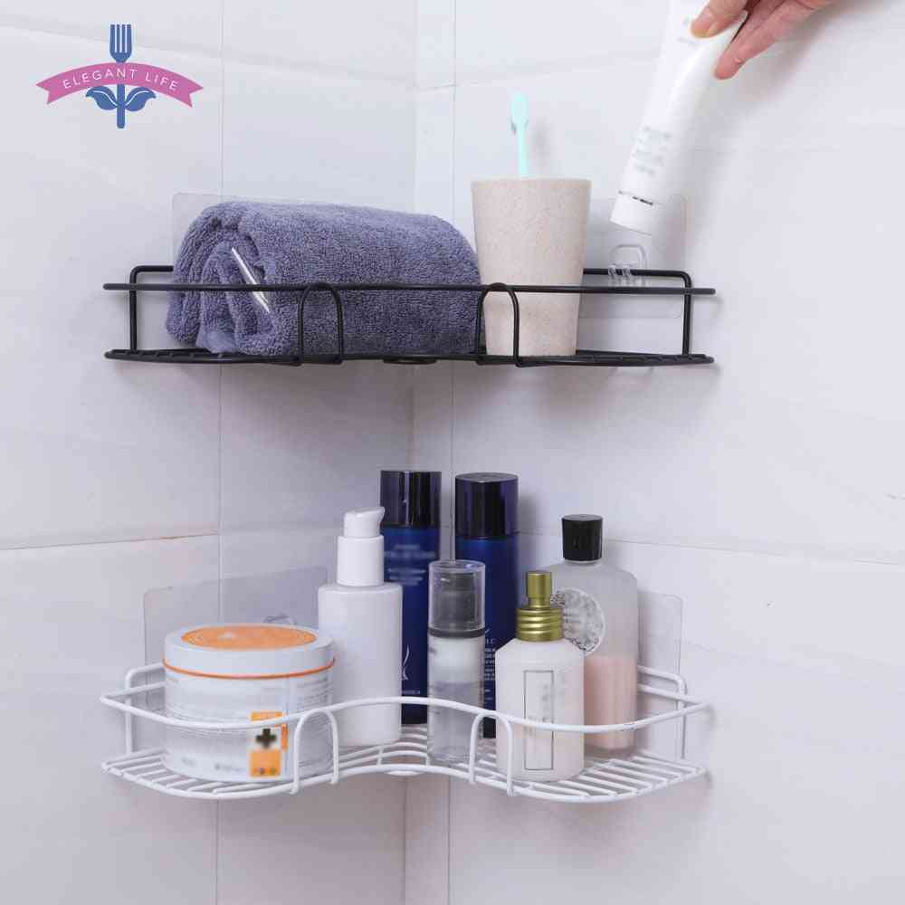 Bathroom Shelf Metal Storage Rack, Stainless Steel Punch-free Shower, Kitchen Storage Rack