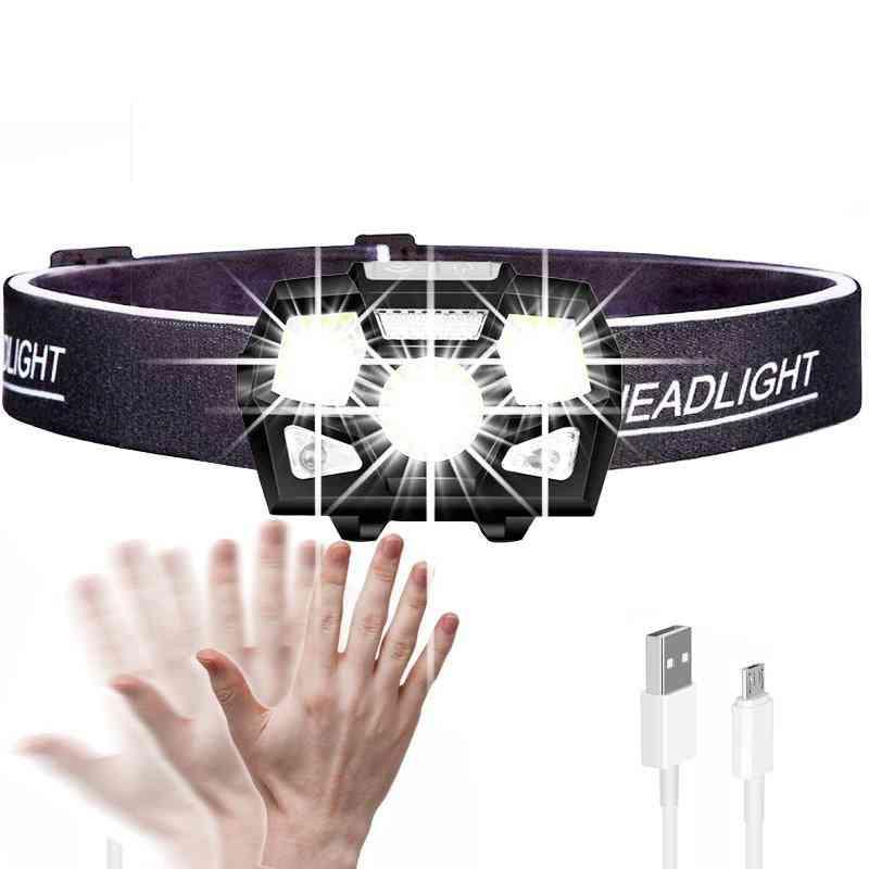 Waterproof Powerful Headlight, Usb-rechargeable Flashlight