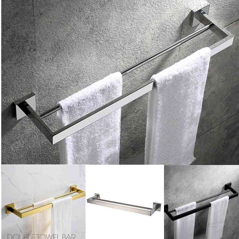 Stainless Steel, Wall Double Towel Holder