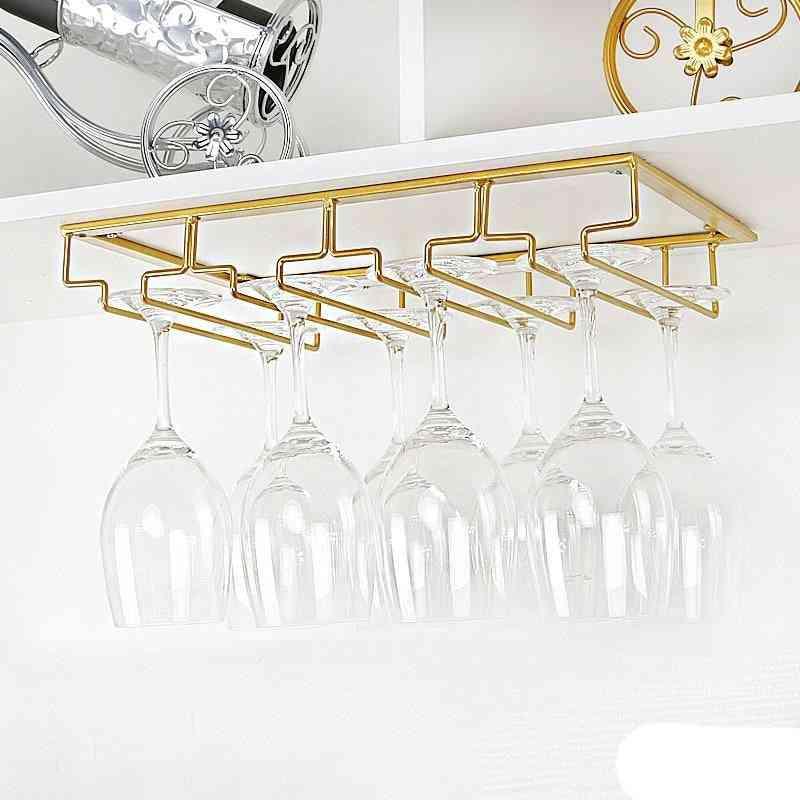 Under Cabinet Wine Glasses Rack - Stemware Hanger Wire Holder