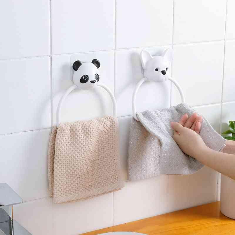 Wall Mounted Self Plastic Bath Towel Rack Holder For Toilet