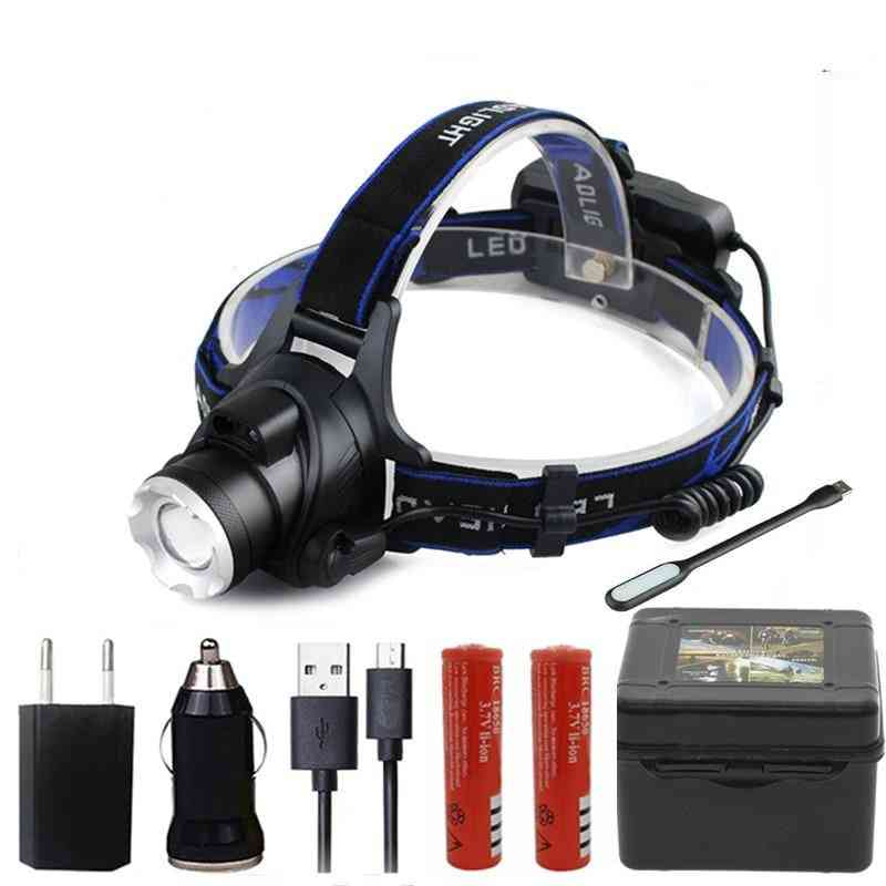 Z20 Led Headlamp Torch -  Lantern Waterproof Bulbs Xml T6 Lithium Ion Rechargeable Xm-l2 18650