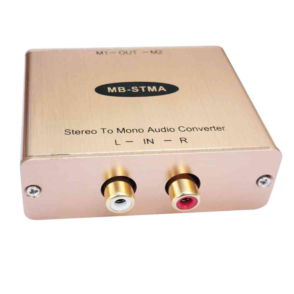 Stereo Audio Mixer - Mono Adapter Analog To Isolation