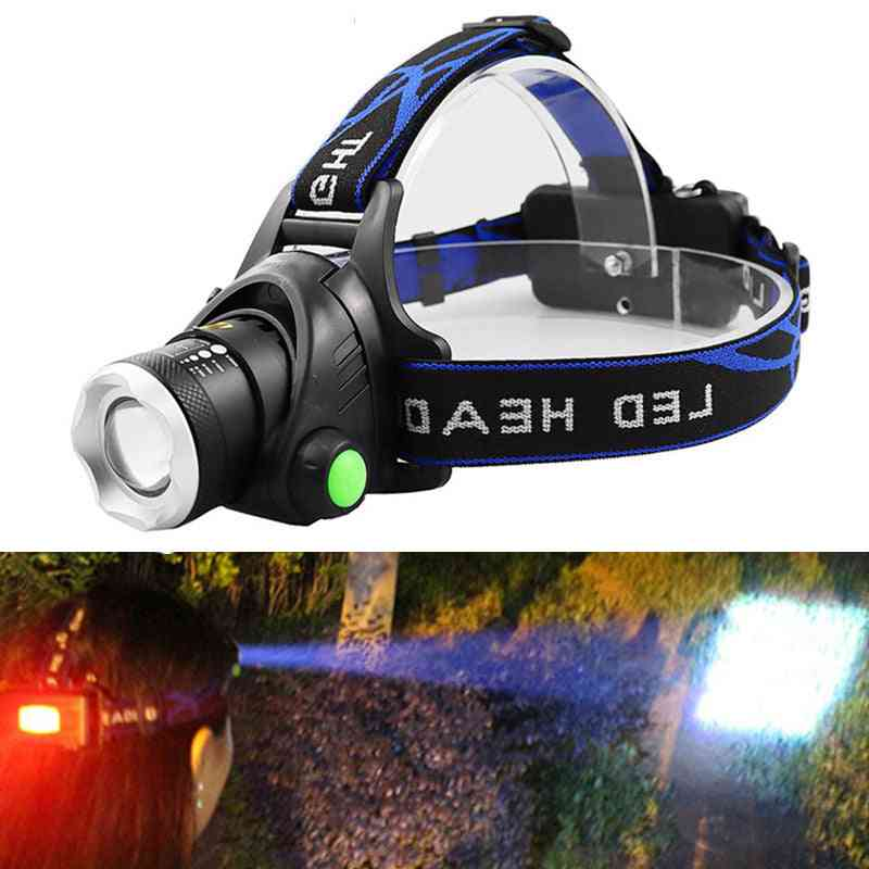 Portable Zooming Led Headlight For Camping/hiking