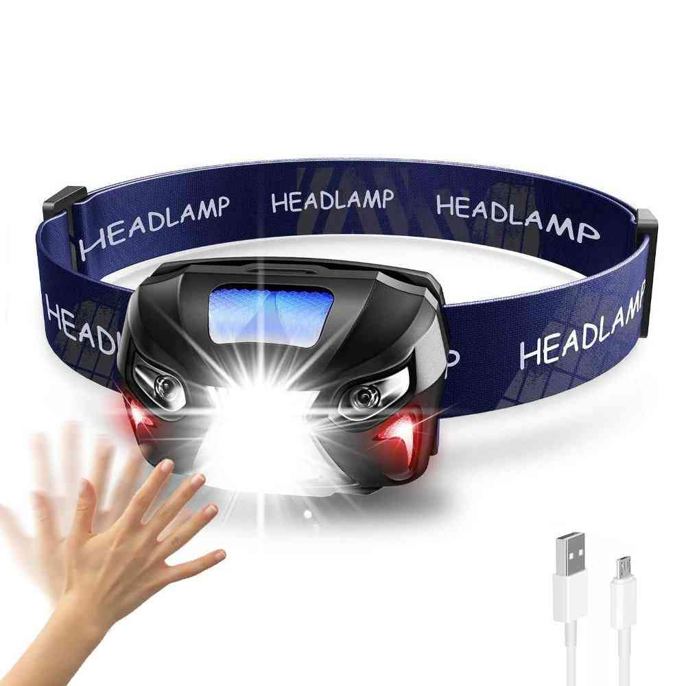 Powerfull Rechargeable  Headlamp Rechargeable Led -with Motion-sensor