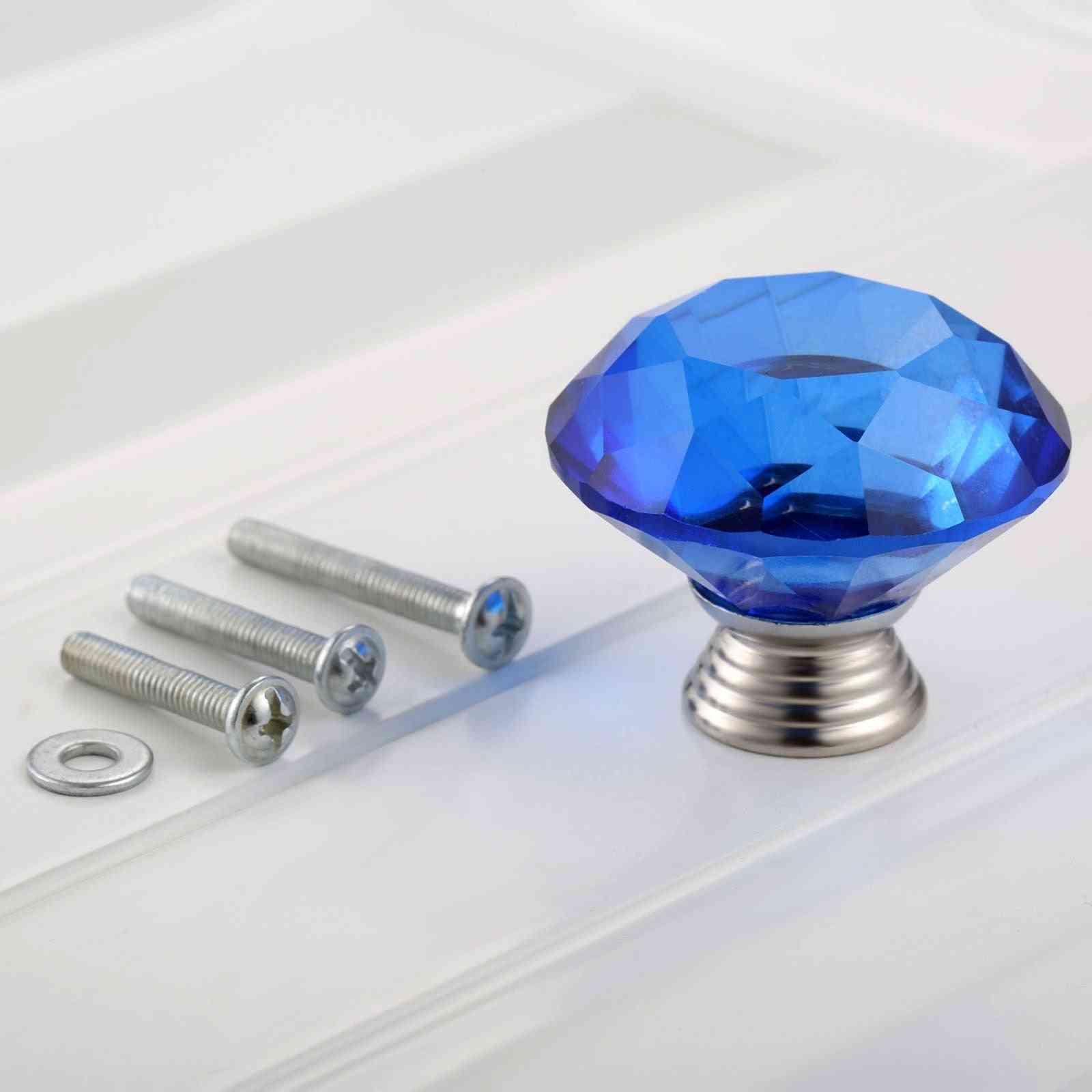 Crystal Glass Knob - Pull Handle Door Cabinet, Furniture Hardware